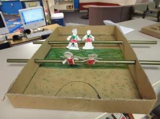 Cardboard Creativity Fair: Foosball!