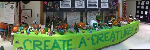 Fall Festival Gourd Decorating Entries