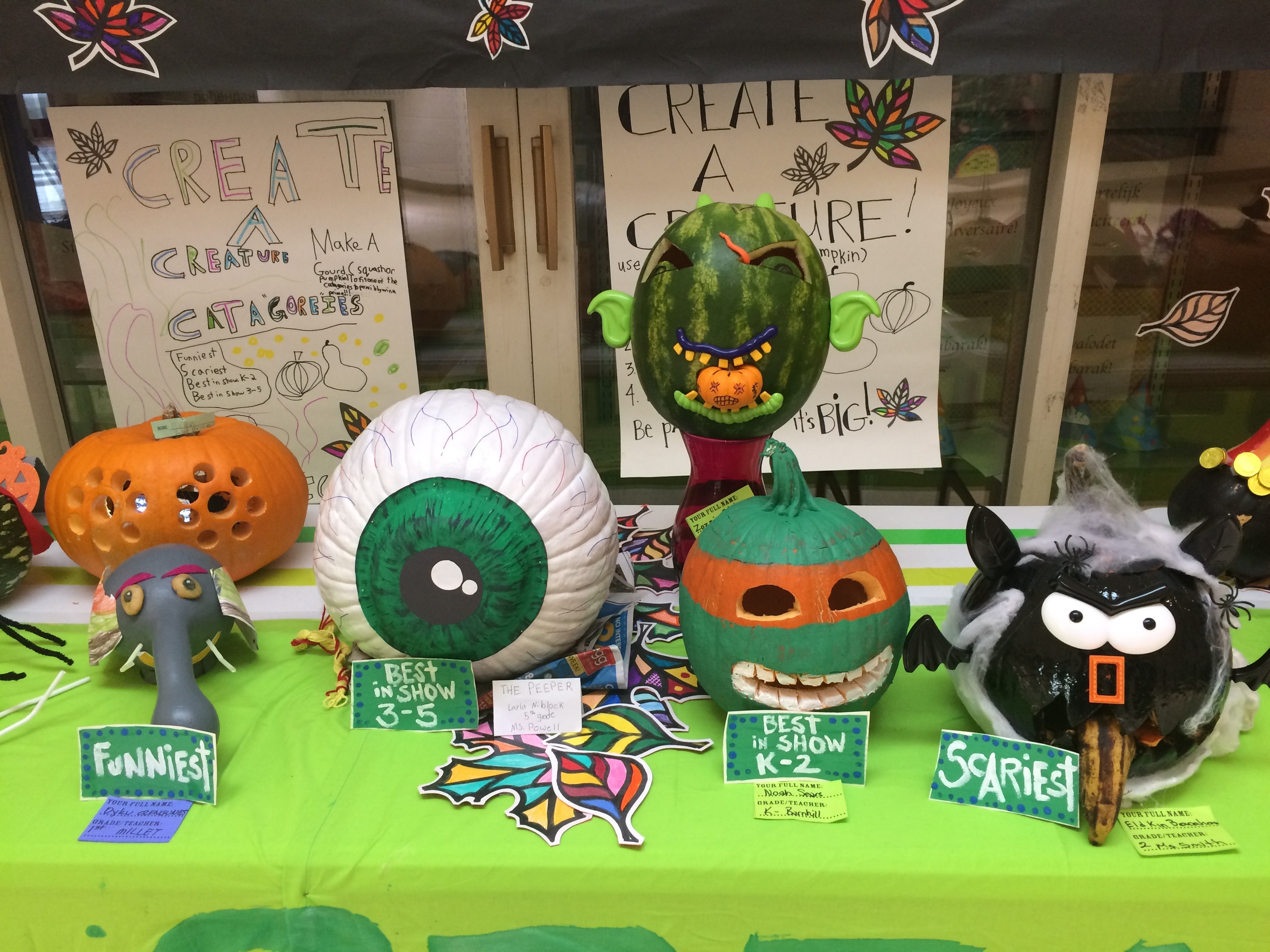 Gourd Decorating Contest Winners Forest View Elementary